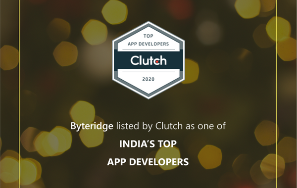 Byteridge Named Among the 2020 Leading Mobile App Development Companies on Clutch.co!